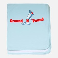 Ground n Pound baby blanket