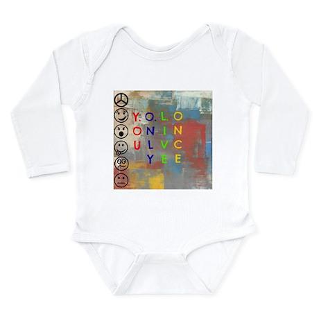 Y.O.L.O Long Sleeve Infant Bodysuit