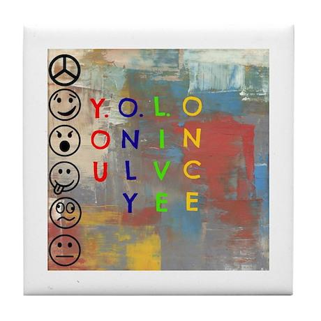 Y.O.L.O Tile Coaster