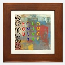 Y.O.L.O Framed Tile
