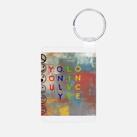 Y.O.L.O Aluminum Photo Keychain