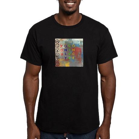 Y.O.L.O Men's Fitted T-Shirt (dark)
