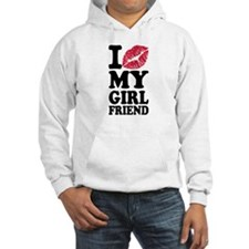 I love my girlfriend kiss Hoodie