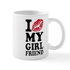 I love my girlfriend kiss Mug