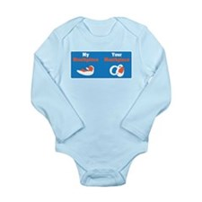 Mouthpiece Long Sleeve Infant Bodysuit