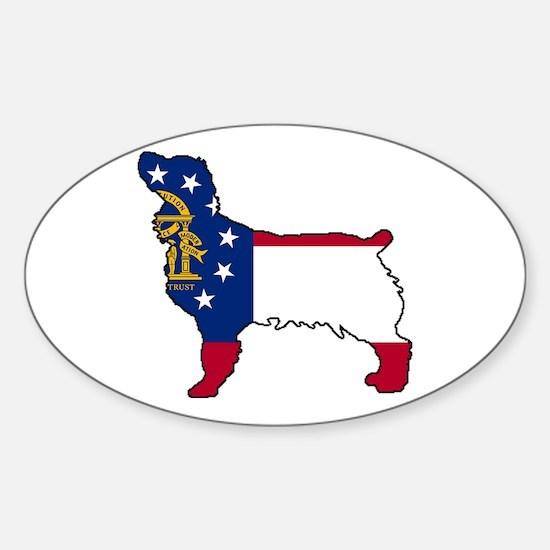 GeorgiaLBD.png Sticker (Oval)