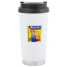 Rosie the Riveter Stamp Travel Coffee Mug