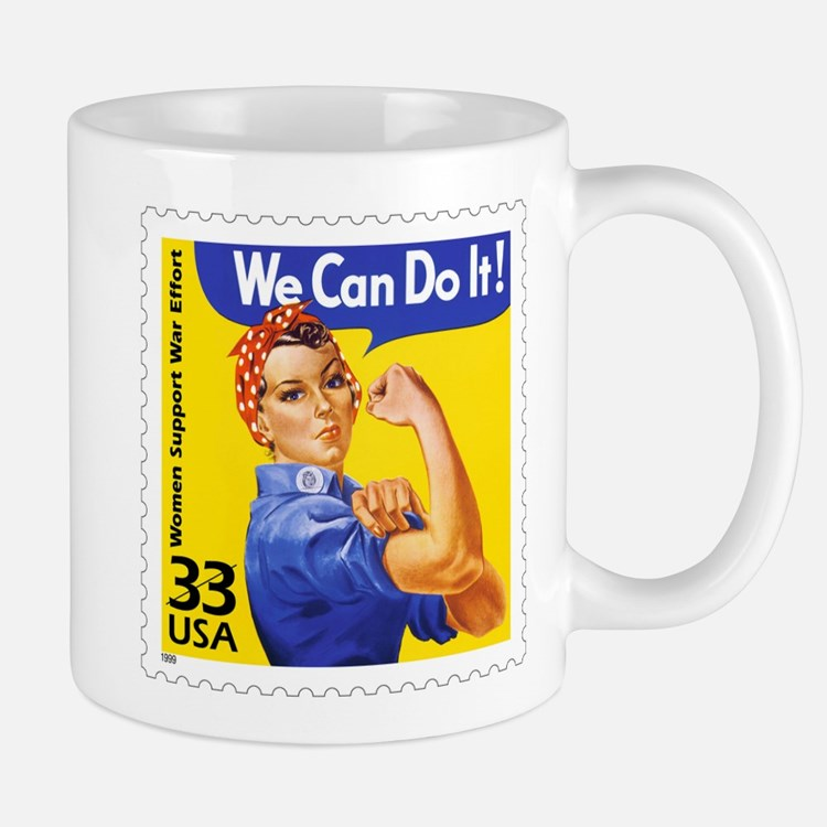 Rosie the Riveter Stamp Mug