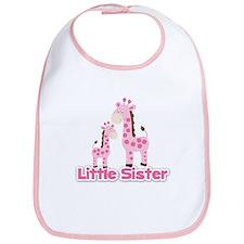 Little Sister Pink Giraffes Sibling Bib