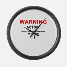WARNING Large Wall Clock