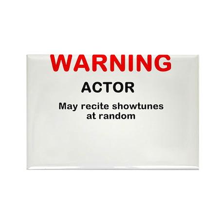 WARNING Rectangle Magnet (10 pack)