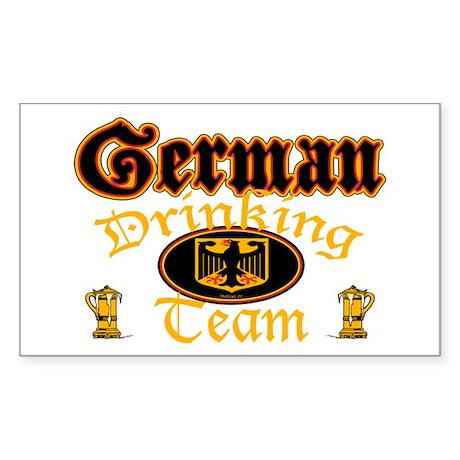 German Drinking Team Sticker (Rectangle)