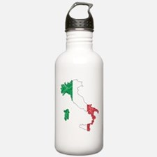 Italy Flag And Map Water Bottle