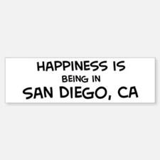 San Diego - Happiness Bumper Bumper Bumper Sticker