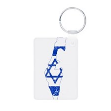 Israel Flag And Map Keychains