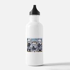 Three Westies Water Bottle