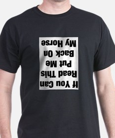 if you can read this black T-Shirt