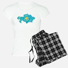 Kazakhstan Flag And Map Pajamas