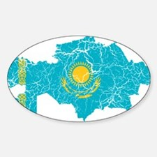 Kazakhstan Flag And Map Decal