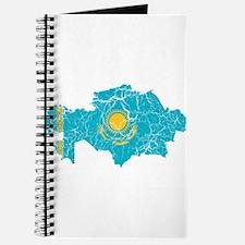 Kazakhstan Flag And Map Journal