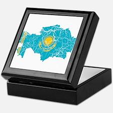 Kazakhstan Flag And Map Keepsake Box