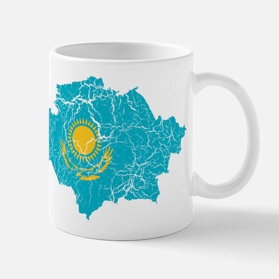 Kazakhstan Flag And Map Mug