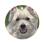 Happy Westie Ornament (Round)