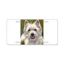 Happy Westie Aluminum License Plate