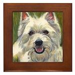 Happy Westie Framed Tile