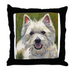 Happy Westie Throw Pillow