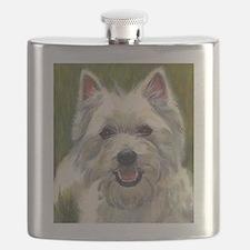 Happy Westie Flask