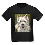Happy Westie Kids Dark T-Shirt