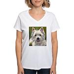 Happy Westie Women's V-Neck T-Shirt