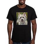 Happy Westie Men's Fitted T-Shirt (dark)