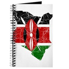 Kenya Flag And Map Journal