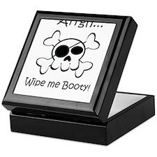 Skull Pirate Wipe Me Booty Keepsake Box