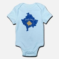 Kosovo Flag And Map Infant Bodysuit
