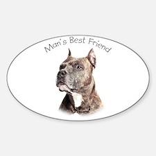 Man's Best Friend Sticker (Oval)