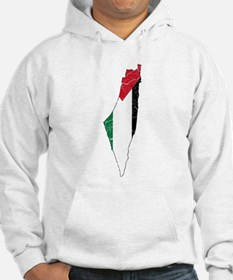 Palestine Flag And Map Hoodie