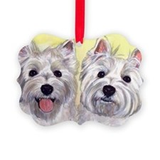 Two Westies Ornament
