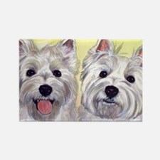Two Westies Rectangle Magnet