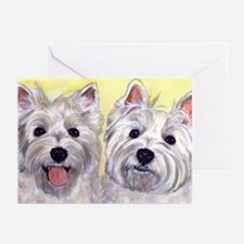 Two Westies Greeting Cards (Pk of 10)