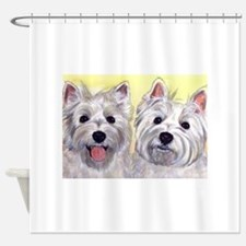Two Westies Shower Curtain