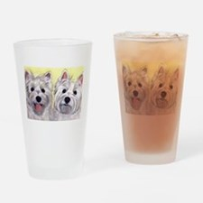 Two Westies Drinking Glass