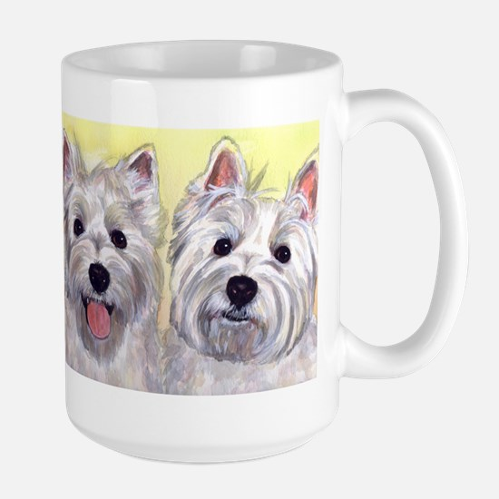 Two Westies Large Mug