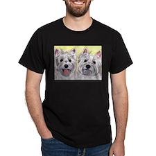 Two Westies Dark T-Shirt