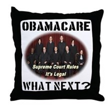 Obamacare What Next? Throw Pillow
