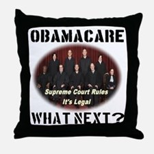 Obamacare What Next? Throw Pillow