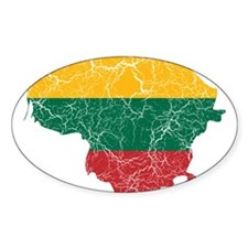 Lithuania Flag And Map Decal