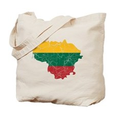 Lithuania Flag And Map Tote Bag